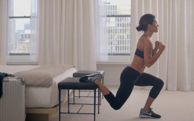 5 exercícios que você pode fazer no seu quarto de hotel
