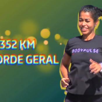 Ana Luiza Matos, atleta BODYPULSE, no programa Esporte Mágico do SBT